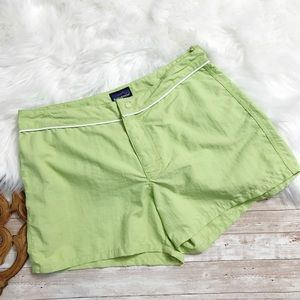Patagonia | 100% Nylon Lime Green Casual Short